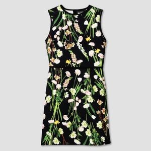 Victoria Beckham for Target Black Floral Dress - M
